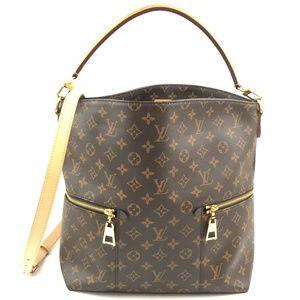 e6d1013a5584 Louis Vuitton. Bucket Melie Strap Hobo Coated Canvas Shoulder Bag